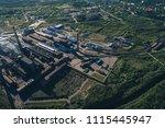 aluminum metallurgical plant... | Shutterstock . vector #1115445947