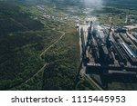 aluminum metallurgical plant... | Shutterstock . vector #1115445953