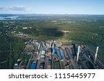 aluminum metallurgical plant... | Shutterstock . vector #1115445977