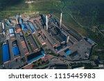 aluminum metallurgical plant... | Shutterstock . vector #1115445983