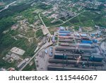 aluminum metallurgical plant... | Shutterstock . vector #1115446067