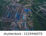 aluminum metallurgical plant... | Shutterstock . vector #1115446073