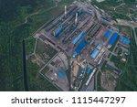 aluminum metallurgical plant... | Shutterstock . vector #1115447297