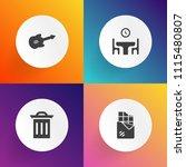 modern  simple vector icon set... | Shutterstock .eps vector #1115480807