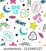 cute cartoon pattern kids girl   Shutterstock .eps vector #1115482127