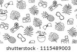 seamless vector pattern with... | Shutterstock .eps vector #1115489003