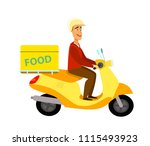 food delivery service icon...   Shutterstock .eps vector #1115493923