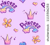 abstract seamless girlish... | Shutterstock .eps vector #1115506253