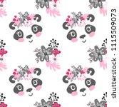 seamless pattern with cartoon...   Shutterstock .eps vector #1115509073
