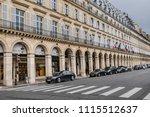 paris  france   june 11  2018 ... | Shutterstock . vector #1115512637