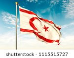 northern cyprus flag on the... | Shutterstock . vector #1115515727