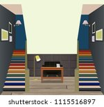 vintage interior of the hallway ... | Shutterstock .eps vector #1115516897