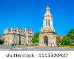 campanile inside of the trinity ...   Shutterstock . vector #1115520437