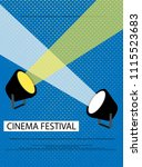 movie and film abstract modern... | Shutterstock .eps vector #1115523683