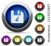paste file icons in round...   Shutterstock .eps vector #1115523857