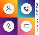 modern  simple vector icon set...   Shutterstock .eps vector #1115523947