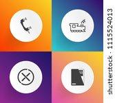 modern  simple vector icon set...   Shutterstock .eps vector #1115524013