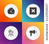 modern  simple vector icon set... | Shutterstock .eps vector #1115524037