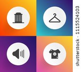 modern  simple vector icon set... | Shutterstock .eps vector #1115524103