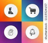 modern  simple vector icon set... | Shutterstock .eps vector #1115524157