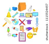 researcher icons set. cartoon...   Shutterstock .eps vector #1115524457