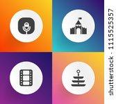 modern  simple vector icon set... | Shutterstock .eps vector #1115525357