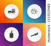 modern  simple vector icon set... | Shutterstock .eps vector #1115525483