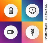 modern  simple vector icon set...   Shutterstock .eps vector #1115525537