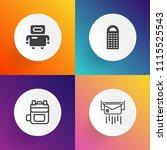 modern  simple vector icon set... | Shutterstock .eps vector #1115525543