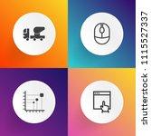 modern  simple vector icon set... | Shutterstock .eps vector #1115527337