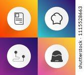 modern  simple vector icon set... | Shutterstock .eps vector #1115528663