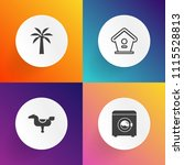 modern  simple vector icon set... | Shutterstock .eps vector #1115528813