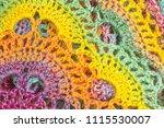 handmade multicolor crochet... | Shutterstock . vector #1115530007