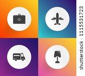 modern  simple vector icon set... | Shutterstock .eps vector #1115531723