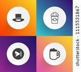 modern  simple vector icon set... | Shutterstock .eps vector #1115531867