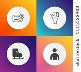 modern  simple vector icon set... | Shutterstock .eps vector #1115533403