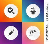 modern  simple vector icon set... | Shutterstock .eps vector #1115533613