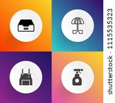 modern  simple vector icon set... | Shutterstock .eps vector #1115535323
