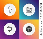 modern  simple vector icon set... | Shutterstock .eps vector #1115535503