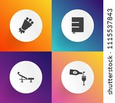 modern  simple vector icon set... | Shutterstock .eps vector #1115537843
