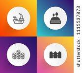 modern  simple vector icon set... | Shutterstock .eps vector #1115537873