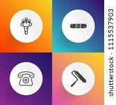 modern  simple vector icon set... | Shutterstock .eps vector #1115537903