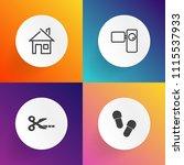 modern  simple vector icon set... | Shutterstock .eps vector #1115537933