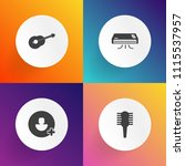 modern  simple vector icon set... | Shutterstock .eps vector #1115537957