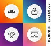 modern  simple vector icon set... | Shutterstock .eps vector #1115538023