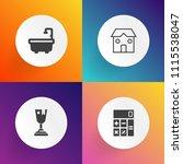 modern  simple vector icon set... | Shutterstock .eps vector #1115538047