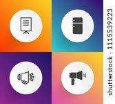 modern  simple vector icon set... | Shutterstock .eps vector #1115539223