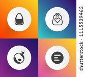 modern  simple vector icon set... | Shutterstock .eps vector #1115539463