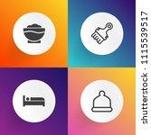 modern  simple vector icon set... | Shutterstock .eps vector #1115539517