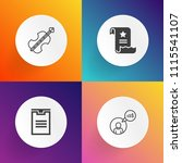 modern  simple vector icon set... | Shutterstock .eps vector #1115541107